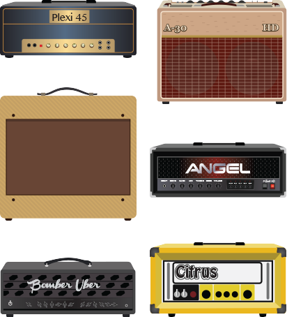 Line 6 Firehawk Amp and Effects image list of amp models