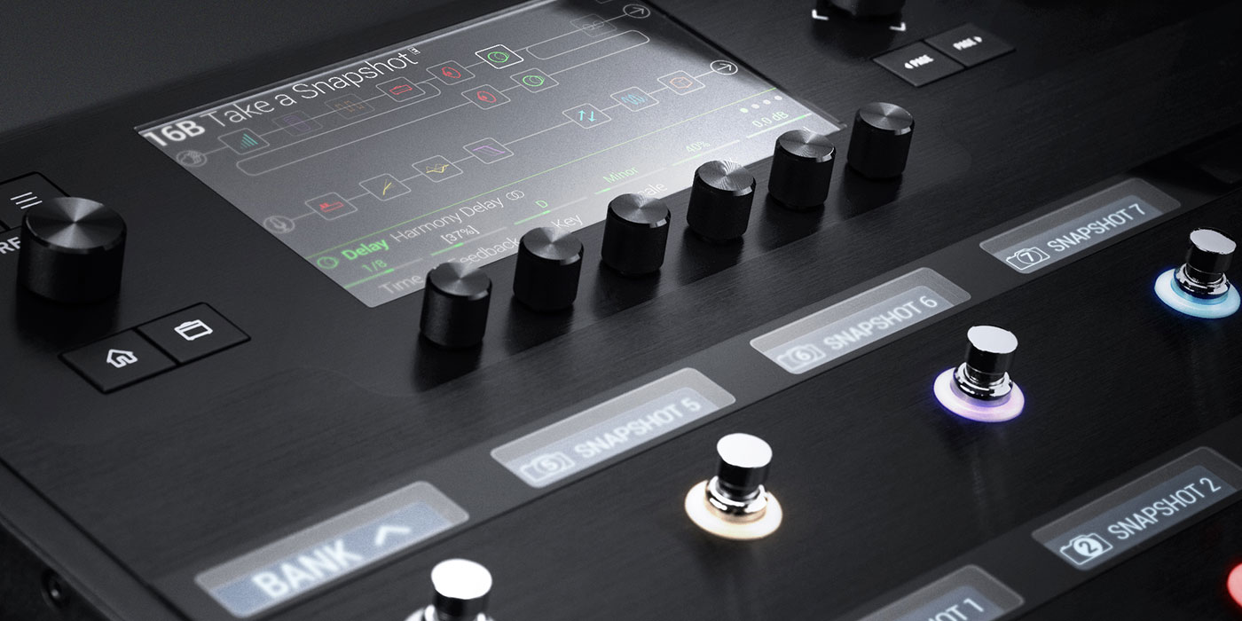 Helix 2.0 with new snapshots feature professional multi effects guitar processor with amp and effects modeling image