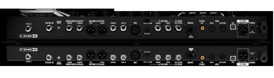 Line 6 POD HD500X guitar effects processor back panel