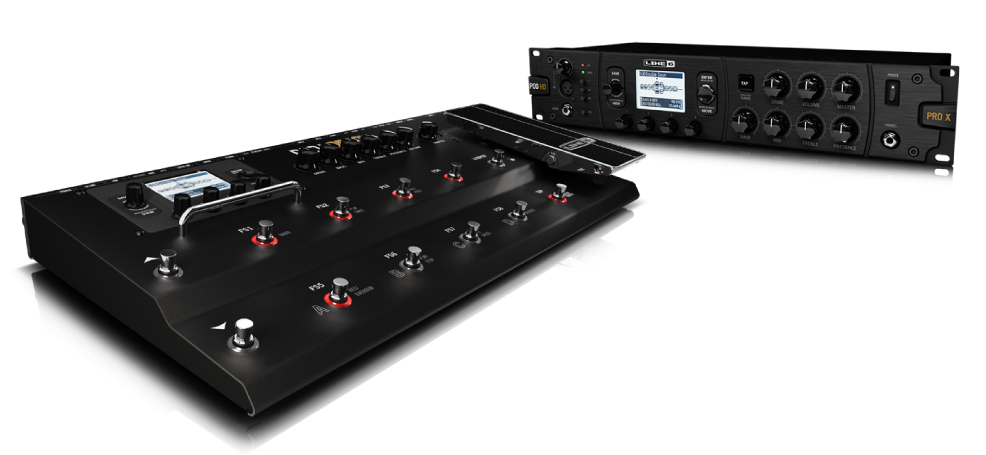 Line 6 POD HD500X guitar effects processor floor model and rack version
