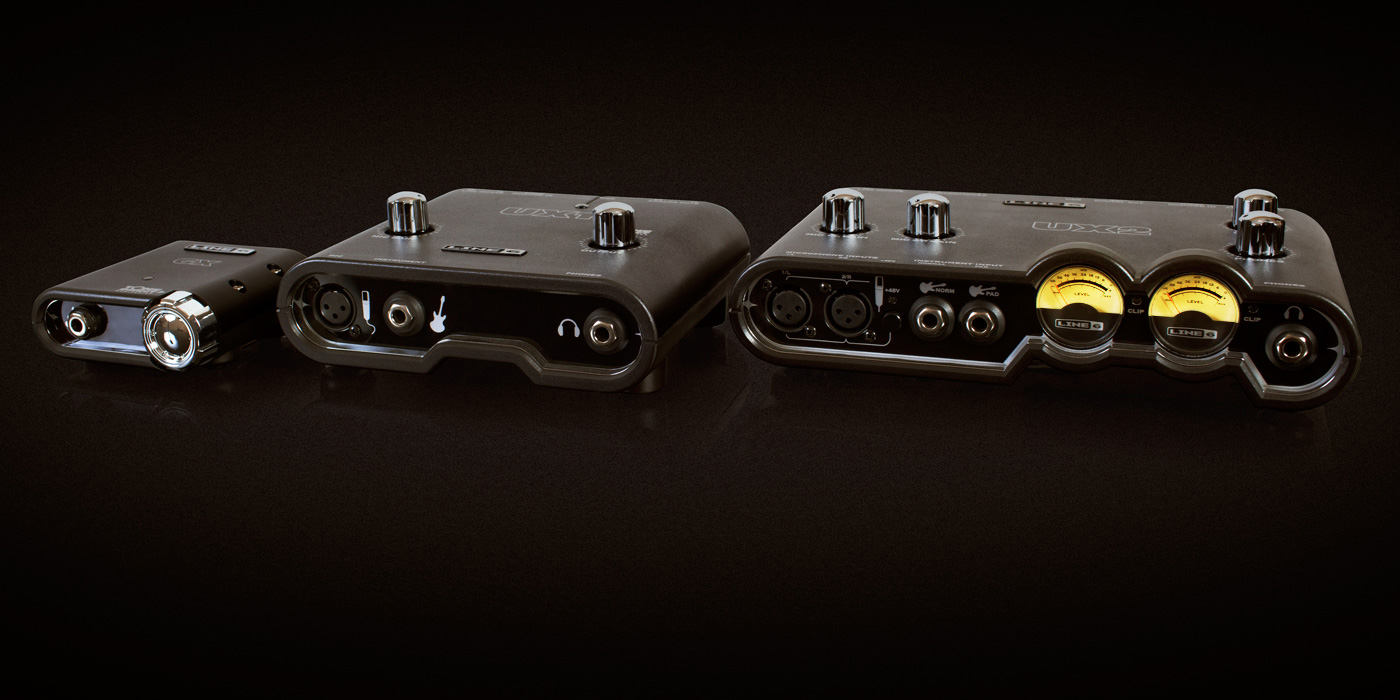Line 6 POD Studio recording interfaces UX2, UX1, GX for home studio recording guitarists and songwriters product image