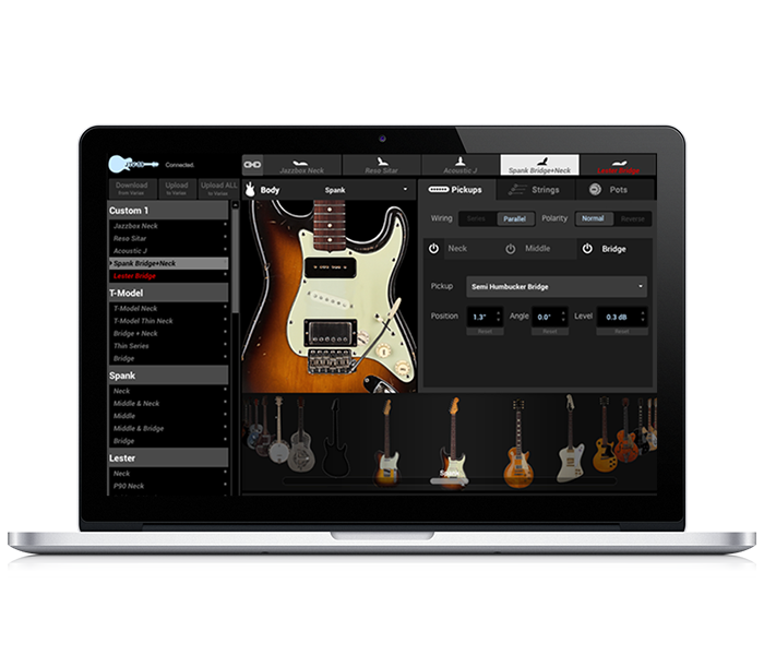 Line 6 James Tyler Variax modeling guitar workbench software
