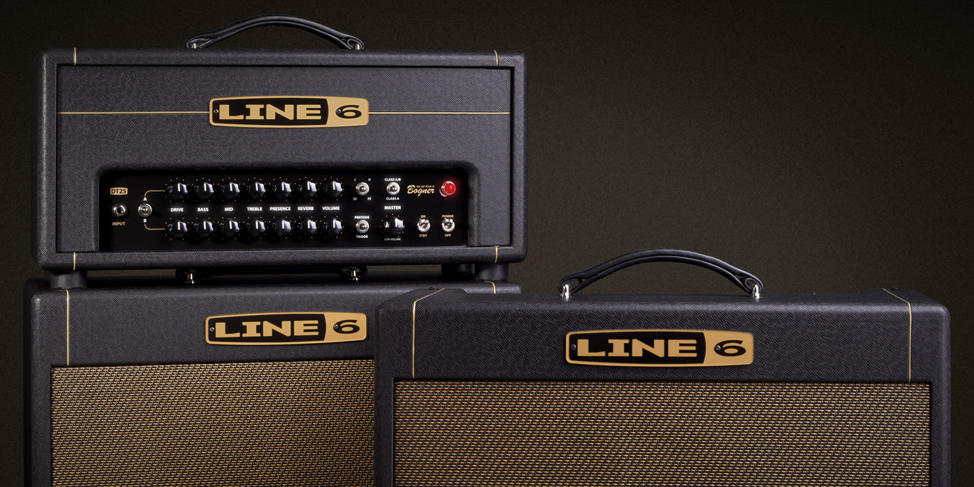 Line 6 DT 25 tube amp with with selectable power tube mode, selectable operating class, and four voicings image