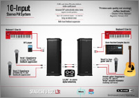 10-INPUT STEREO PA SYSTEM