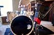 Line 6 Sonic Port VX audio recording interface recording live drums