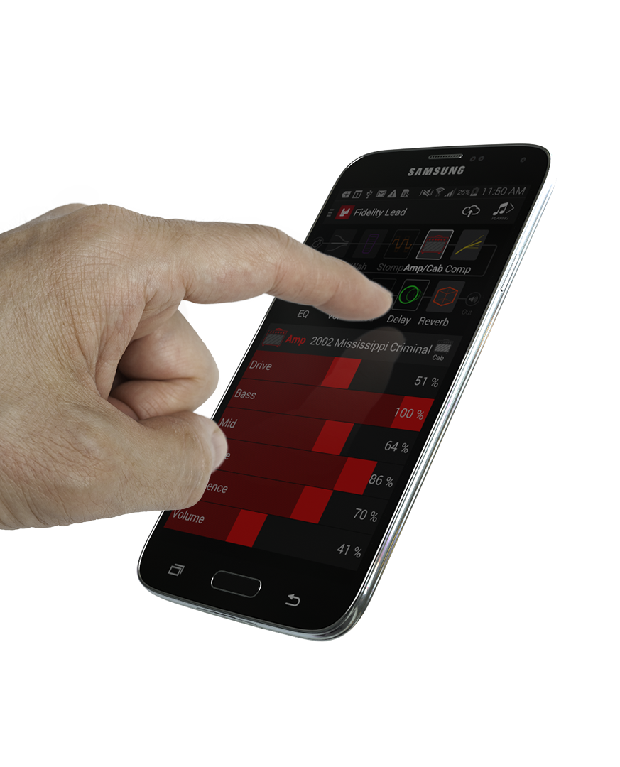 Line 6 FX100 guitar effects pedal remote app on iOS and Android