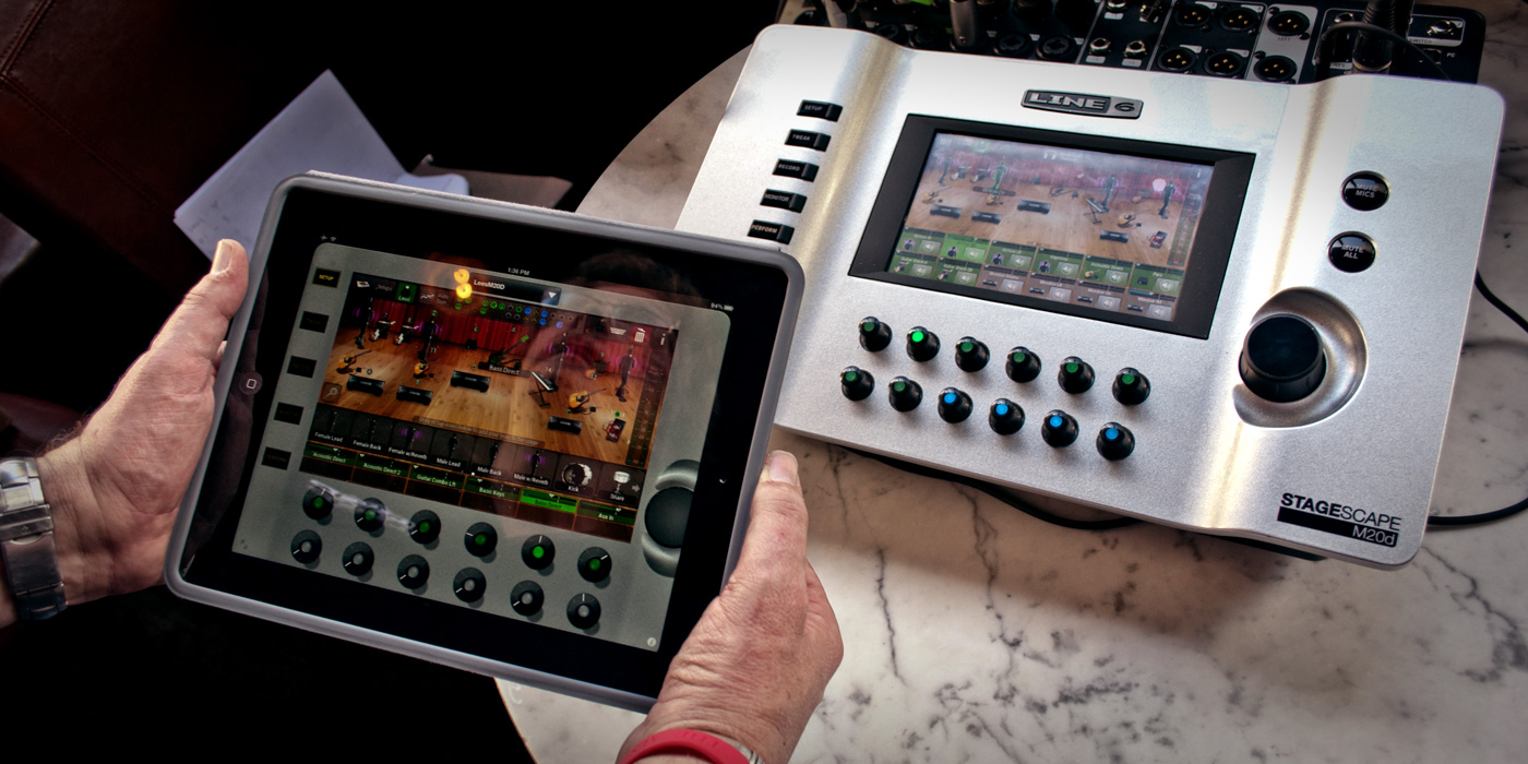 Line 6 StageScape M20D with iPad app control live sound mixer and digital recorder image