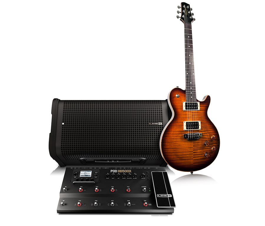 Line 6 Dreamrig full range frequency response with Variax POD HD and StageSource