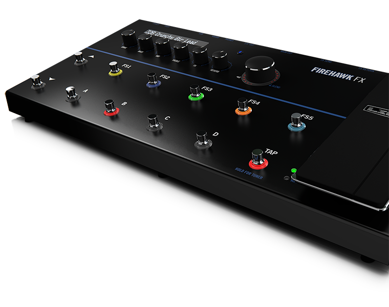 Line 6 Firehawk Amp and Effects product photo of floor processor