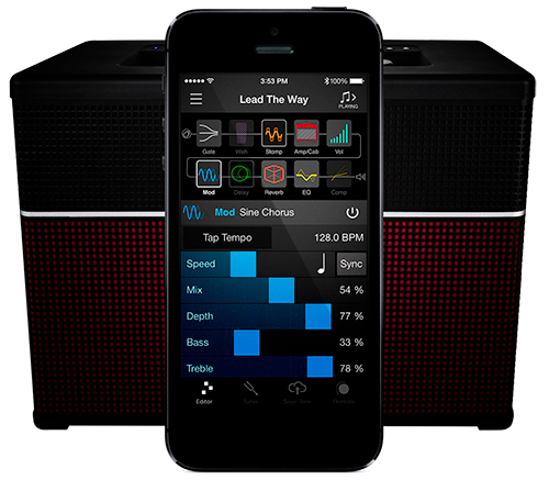 Line 6 AMPLIFi amp and Remote app product photo for iOS and Android