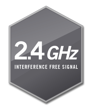 Line 6 Relay Guitar Wireless System 2.4GHz ISM band infographic.
