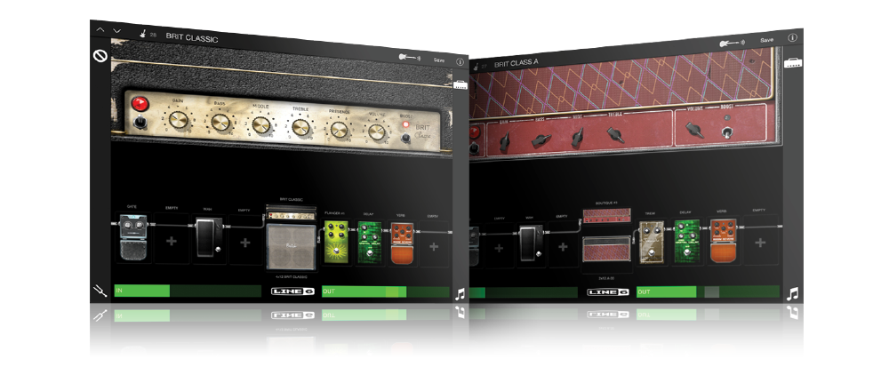 Mobile POD guitar and effects modeling app for iOS