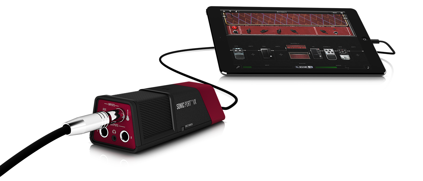 Line 6 Sonic Port VX recording interface with Mobile POD app