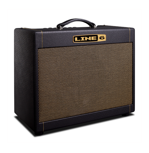 Line 6 DT 25 combo product photo with four voicings and 12