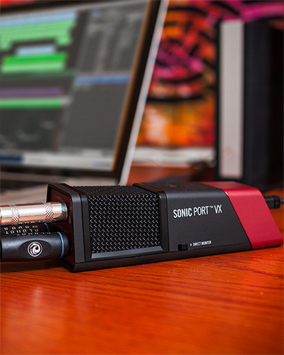 Line 6 Sonic Port VX audio recording interface product photo