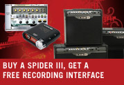 Buy a Spider™ III amp and get a free recording interface!