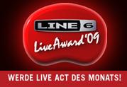 LINE 6 UND REGIOACTIVE.DE PRÄSENTIEREN DEN LINE 6 LIVE AWARD