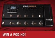Gewinne ein POD HD Multieffektpedal! (im Wert von bis zu € 519)