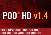 Kostenloses 1.4 Update für POD HD, POD HD Pro und POD HD500