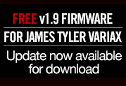 Free v1.9 Update Now Available for James Tyler Variax Guitars