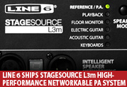 Line 6 Ships StageSource L3m High-performance  Digitally Networkable PA System