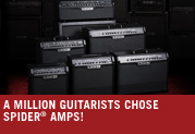 It's official. Over a million guitarists chose Spider® amplifiers!