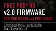POD HD300、POD HD400対象の無償v2.0アップデート