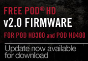 Now Available: Free v2.0 Firmware Update for POD HD300 and POD HD400