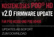 Das kostenlose V2.0 Firmware-Update für POD HD300 und POD HD400
