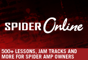 500+ Lessons, Jam Tracks and More for Spider Owners at Spider Online!