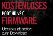 Kostenloses V2.0-Update für alle POD® HD Multi-Effektgeräte