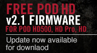 POD HD Bean/Pro/500 2.1アップグレード